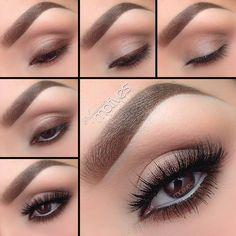 Eye Makeup Tips.Smokey Eye Makeup Tips - For a Catchy and Impressive Look Eye Makeup Steps, Simple Eye Makeup, Smokey Eye Makeup, Natural Makeup, Natural Eye Makeup Step By Step, Simple Eyeshadow, Basic Makeup, Brown Eyeshadow, Eyeshadow Makeup