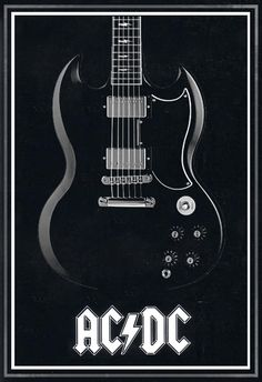 AC/DC back in black poster by MitchBaker13.deviantart.com on @deviantART