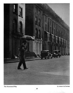 """""""The Homeward Way"""" by Bill Brandt from his book """"The English At Home"""" (1936)"""