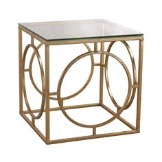 Add functional style to your interior décor with the gorgeous Sterling leafed ring and glass table. This elegant piece offers a sophisticated and classic style that's sure to be a favorite in your home decor for years to come.