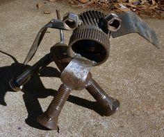 Yard Art Made From Junk | Junk Yard Dog original metal art sculpture by MetalArtDude on Etsy