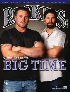 ♥♥♥ have this.  rockies magazine  Jasom Giambi & Todd Helton