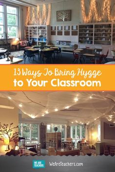 13 Ways To Bring Hygge to Your Classroom. Hygge has become a hot trend this last year through out homes and now classrooms. It's important that we start immolating this trend in our classrooms because it helps create a sense of community and comfort for s High School Classroom, English Classroom, Classroom Setting, Classroom Design, Music Classroom, Preschool Classroom, Future Classroom, Classroom Organization, Classroom Decor