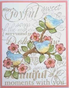 Little Birds on a Flower Branch by Nan Cee's - Cards and Paper Crafts at Splitcoaststampers