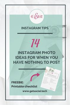 Instagram Tips - With this list, you will have two weeks worth of Instagram post ideas that will help you get back on track with engaging and increasing your Instagram audience.