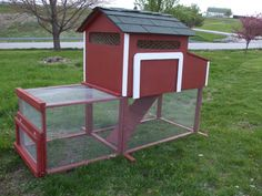 A friend and I designed and made this lovely little chicken coop that housed three to four hens.   So cute!
