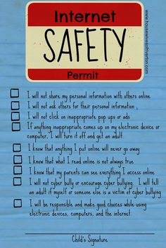 Kid's Internet Safety Family Home Evening - FREE Printable! - Housewives of Riverton Home Safety, Safety Tips, Child Safety, Safety Checklist, Family Safety, Family Home Evening, Home And Family, Family Kids, Family Night