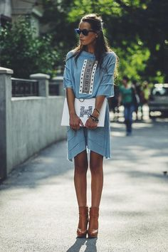 Boho Street Style Inspiration: Effortless and Elegant Look Street Style, Street Style Trends, All About Fashion, Passion For Fashion, Quoi Porter, Short En Jean, Vogue, Ethnic Fashion, Net Fashion
