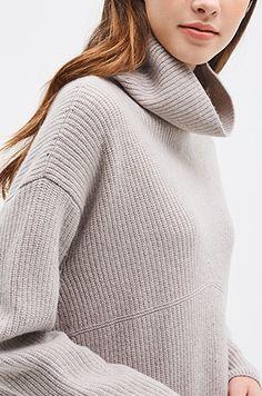 [SYSTEM0] 하이넥 리브 니트 드레스 Knit Skirt, Turtle Neck, Knitting, Skirts, Sweaters, Fashion, Moda, Tricot, Breien