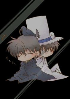 Shinichi and Kaito *^* (Detective Conan)