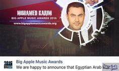 محمد كريم يقدم حفل BIG APPLE MUSIC…: أعلن الفنان محمد كريم عن تقديمه حفل BIG APPLE MUSIC AWARDS 2016 الذي يقام لأول مرة في الشرق الاوسط .…