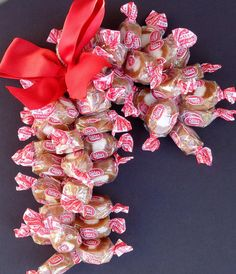 Soft Candy Cane Edible Decoration Caramel Cremes Vanilla Chocolate Grab Bag Gift Tootsie Rolls