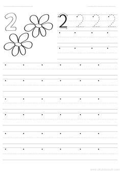 Worksheets For Playgroup, Preschool Number Worksheets, Pre K Worksheets, Numbers Preschool, Number Writing Practice, Writing Numbers, Pre Writing, Math For Kids, Teaching Kindergarten
