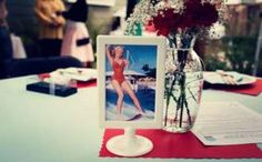 These would be great in B & W and all of them with a pic of Marilyn Monroe.  Regan loves her!  Retro Bridal Shower Ideas