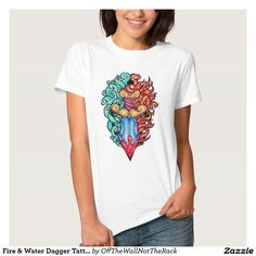 Fire & Water Dagger Tattoo T-Shirt