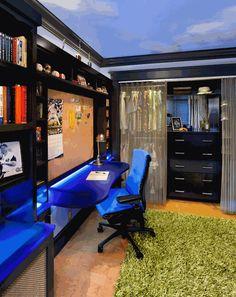 Комната для мальчика подростка. Bedroom BoysKid ...
