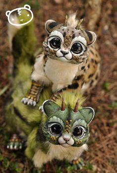More Chibi Dragon Spirits! by LisaToms on DeviantArt