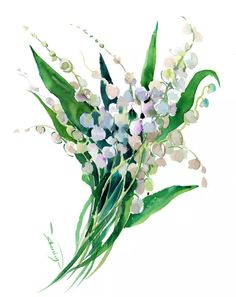 View: Lilies of The Valley | Artfinder Watercolor Paper, Watercolor Flowers, Paper Tags, Lily Of The Valley, Lilies, Lovers Art, Buy Art, This Or That Questions, Artwork