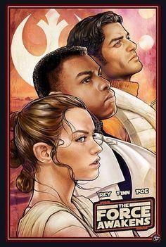 Rey, Finn, Poe / The Force Awakens