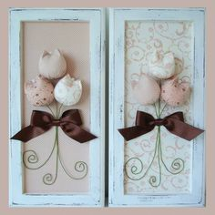 Cuuuuute for a bathroom Fabric Decor, Fabric Crafts, Sewing Crafts, Diy Crafts, Handmade Flowers, Diy Flowers, Fabric Flowers, Decoupage Vintage, Wooden Wall Art