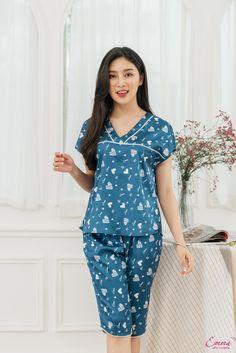 Cute Sleepwear, Sleepwear Women, Night Suit For Women, Girls Night Dress, Stylish Tops For Women, Ankara Long Gown Styles, Royal Clothing, Cute Lazy Outfits, Nighties