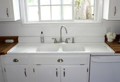 vintage kitchen sink with drainboard