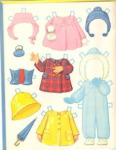 BETH ANN Paper Doll by artist Kathy Lawrence A Whitman® Book © 1970 Western Publishing Company.  Baby has lots of fun accessories. 5 of 9