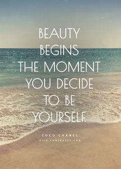 La belezza inizia quando sei te stesso