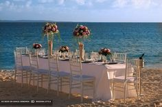 altar on beach evening at cap juluca anguilla british west indies