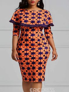 Will definitely look nice on both plain and designed fabrics. Short African Dresses, Short Gowns, Latest African Fashion Dresses, African Print Fashion, Women's Fashion Dresses, Kitenge, Mode Outfits, Curvy Outfits, Ladies Dress Design