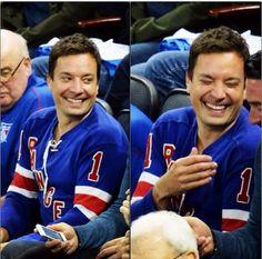 Jimmy Fallon is a Rangers fan so I'm a Rangers fan. hahahhaha sorry Clay