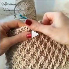 How to knit Jasmine Stitch video tutorial .-Wie man Jasmine Stitch Video-Tutorial strickt How to knit Jasmine Stitch video tutorial - Crochet Simple, Love Crochet, Single Crochet, Double Crochet, Crochet Stitches Patterns, Knitting Stitches, Knitting Patterns, Free Knitting, Knitting Ideas