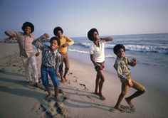 The Jackson 5 in Malibu, 1969.  Photo by Lawrence Schiller