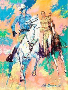 """LEROY NEIMAN Rio Carnaval 38/"""" x 24.5/"""" Poster 1981 Expressionism Multicolor"""
