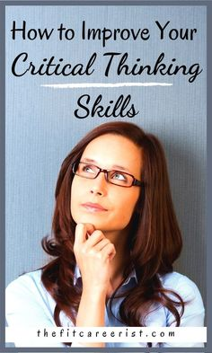 Learning how to be an effective problem solver will help you in all areas of life, from your career to your relationships. But problem solving requires critical thinking skills. Here is some actional advice on improving this in-demand soft skills today! Teaching Critical Thinking, Job Hunting Tips, Confidence Tips, Confidence Building, Healthy Lifestyle Habits, Personal Development Books, Problem Solving Skills, Resume Tips, Successful Women