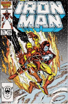 Iron Man 216 March 1987 Issue Marvel Comics Grade by ViewObscura