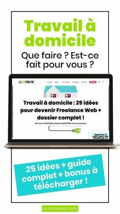 Travail à domicile : 25 idées pour devenir Freelance Web