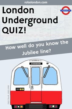 The Jubilee line opened in 1979 and was extended in How much do you know about the silver coloured line? Find out by taking the Jubilee line quiz! Jubilee Line, London Transport, London Underground, Great Britain, Quizzes, Trivia, Did You Know, How To Find Out, Tube