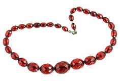 Cherry Amber Beaded Choker Necklace