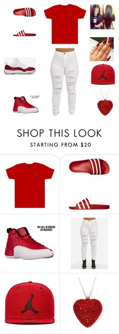 """""""ovo"""" by aleisharodriguez ❤ liked on Polyvore featuring October's Very Own, adidas Originals and Jordan Brand Lit Outfits, Jordan Outfits, Casual Outfits, Jordan Shoes, Dope Fashion, Teen Fashion, Fashion Outfits, Fashion Trends, Red Dress Outfit Casual"""
