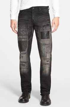 PRPS 'Demon - Derny' Slim Straight Leg Jeans (Black) available at #Nordstrom