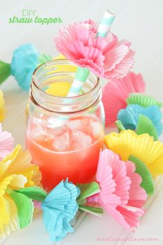 Add flare to your next summer gathering with these easy to make DIY Straw Toppers!