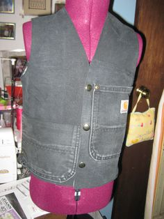 Boys vest from old Carharts