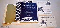 Wedding Invitations Zoo Invitations/Safari von WhoaNelliePress