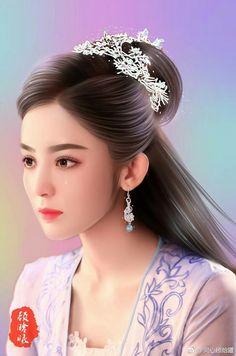 Guli Nazha 古力娜扎 Fan art- Fighter of the Destiny 择天记 2017 Chinese Picture, Chinese Art, Beautiful Fantasy Art, Beautiful Anime Girl, Art Of Beauty, Beauty Women, Japanese Drawings, Different Kinds Of Art, Sad Art