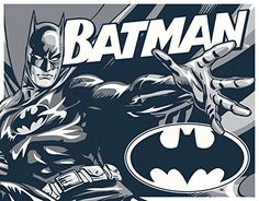 Batman  Duotone Tin Sign 16 x 13in -- This is an Amazon Affiliate link. Continue to the product at the image link.