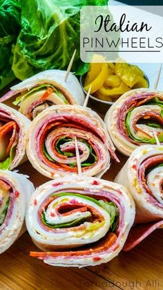 These Italian Pinwheels are a great spicy and crisp appetizer for any get together!
