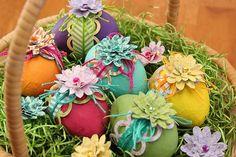 Basket of Easter Eggs. Featuring Bella Blvd's Designer Washi Tapes. By Guest Designer Juliana Michaels