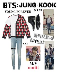 """BTS: JUNGKOOK ""Fire"" M/V Outfit"" by itzbrizo ❤ liked on Polyvore featuring Tom Ford, Yves Saint Laurent, Theory and Wet Seal"