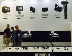 #GoPro-Fans aufgepasst. #Removu zeigt auf der #IFA2015 Displays mit WLAN und Mikros mit Bluetooth.